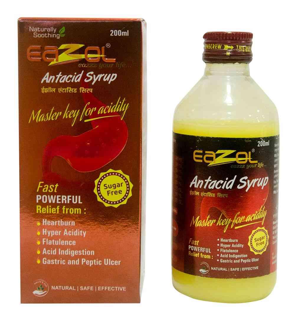 Eazol  Antacid Syrup  Bottle Of 200 Ml