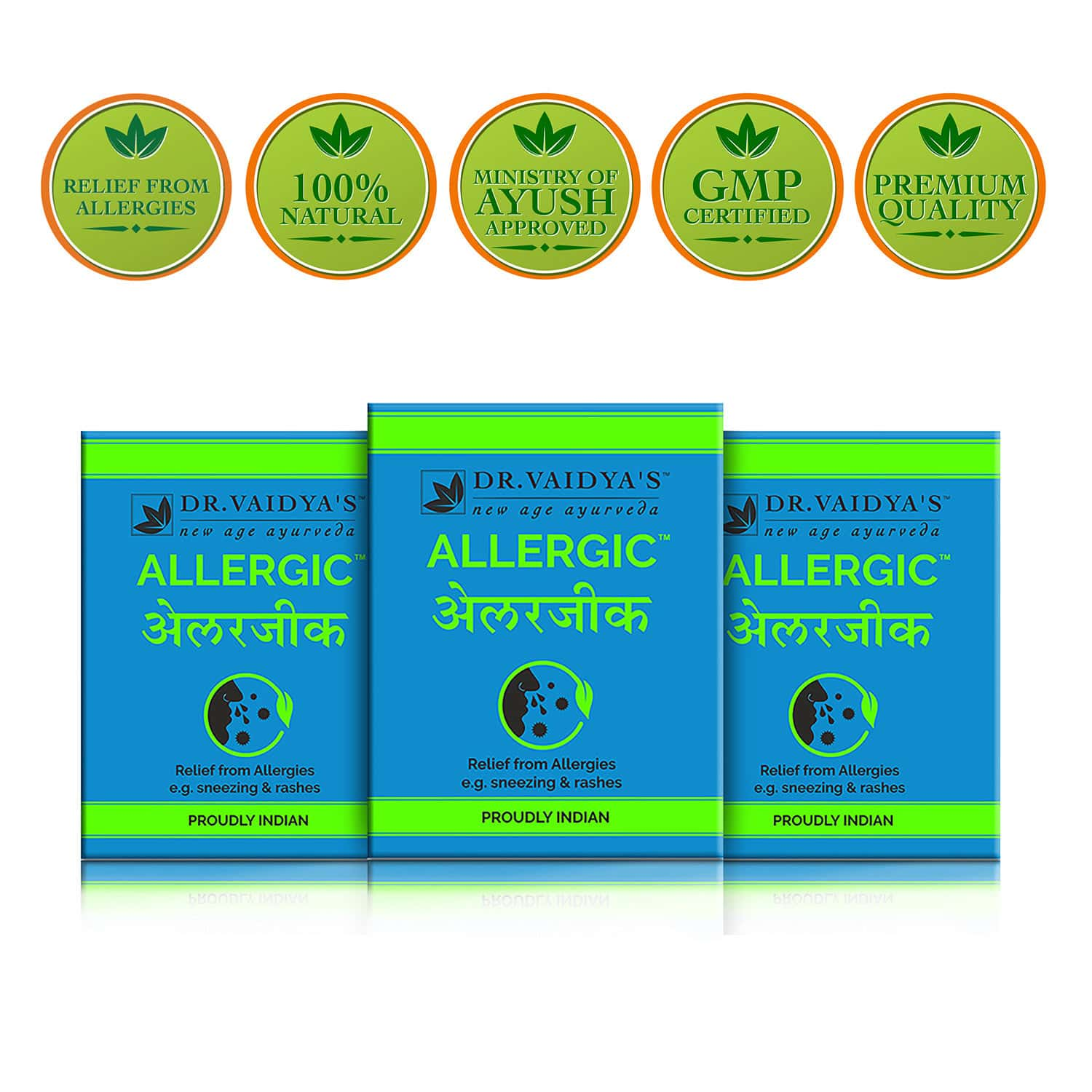 Dr. Vaidya's Allergy & Cold Pills (pack Of 3) Box Of 24 's
