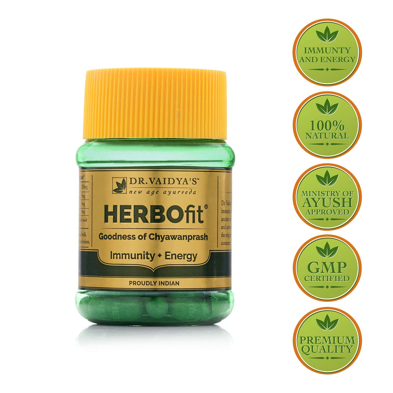 Dr.vaidya's Herbofit | Goodness Of Chywanprash In A Capsule | Boost Immunity & Energy | 30 Capsules Each (pack Of 2)