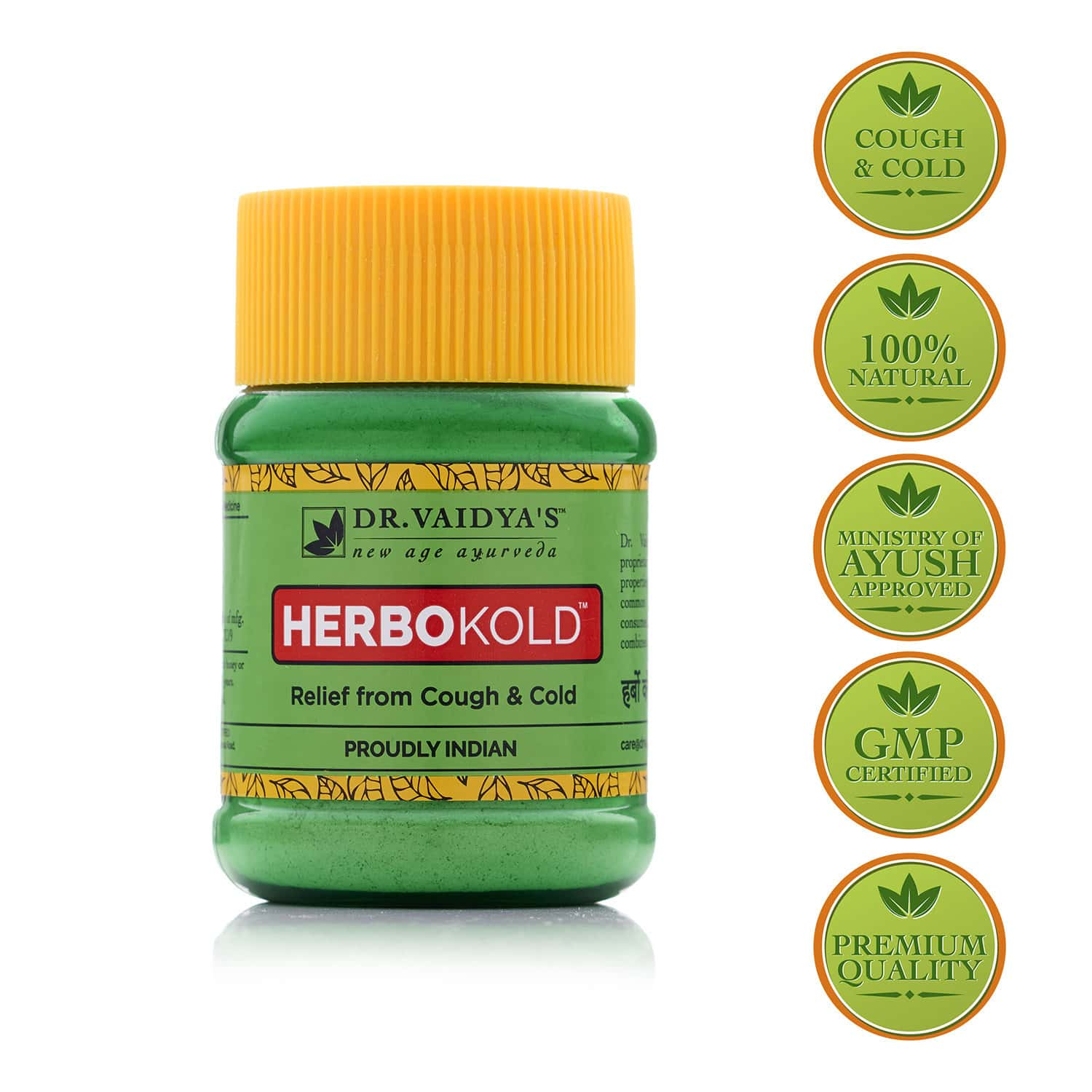 Dr. Vaidya's Herbokold | Ayurvedic Churna For Cold And Cough | 50g Each (pack Of 2)