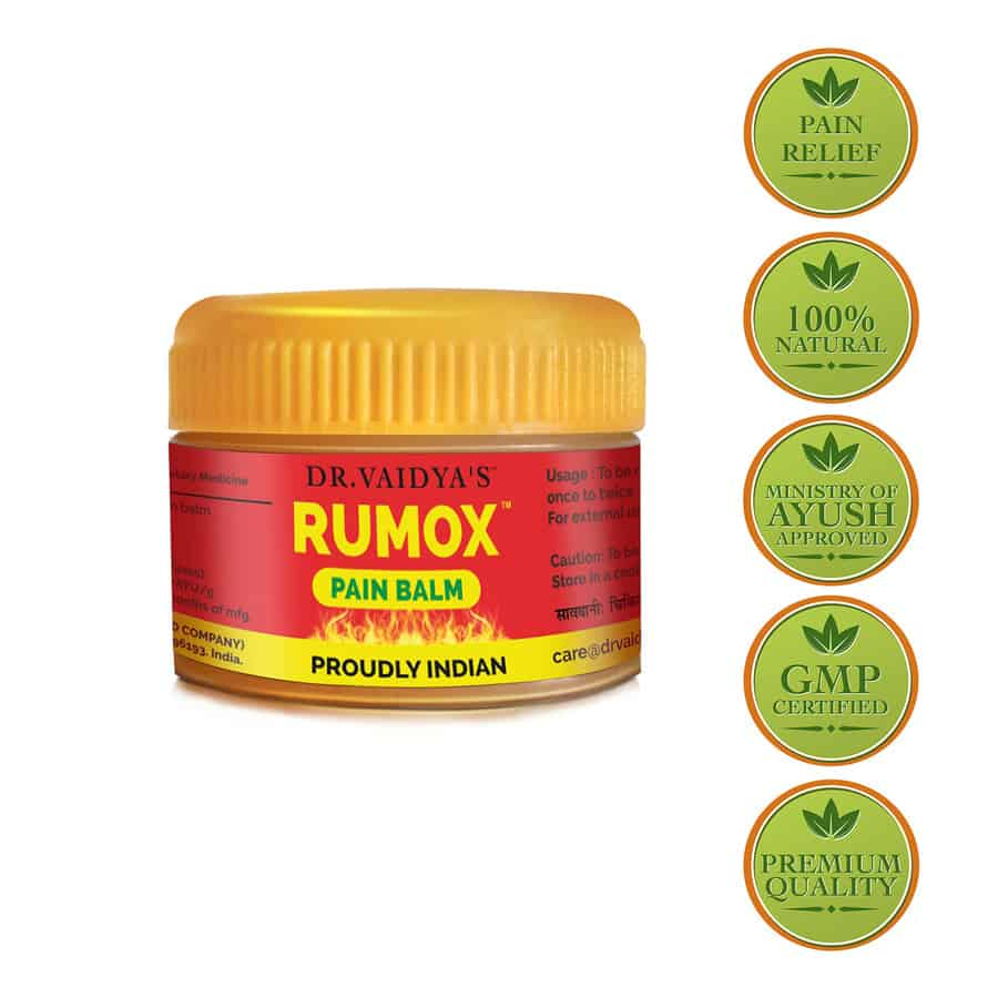 Dr. Vaidya's Rumox - 12g Pack Of 4 (48 Gms) (pain Relief Balm)