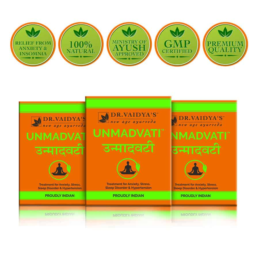 Dr. Vaidya's Unmadvati Pills Pack Of 3 (72 Pills) (stress Reliever)