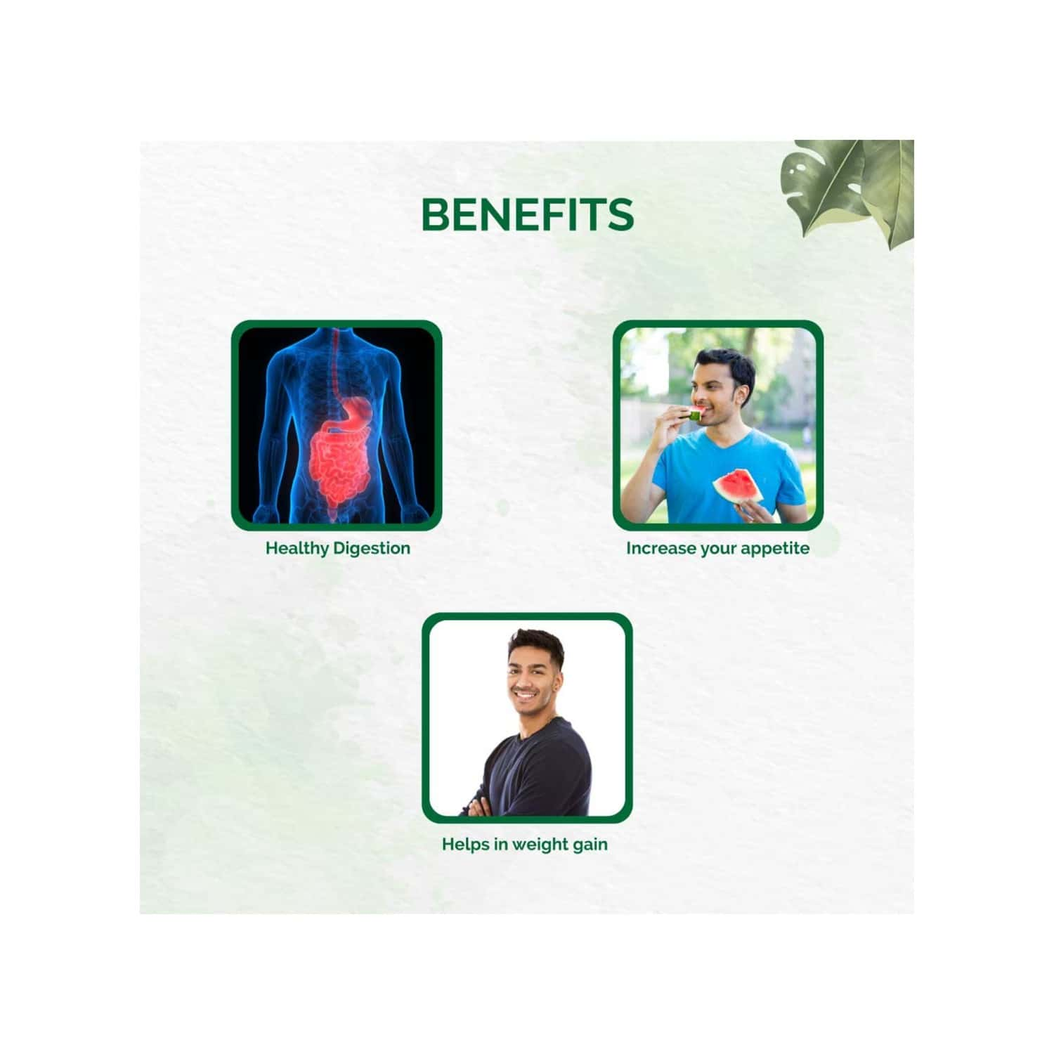 Dr.vaidya's Weight Gain Pack | Helps With Weight Gain To Strengthen Immune System | Herbofit (30 Capsules X 1) Pachak Churna (50 G X 2) & Chakaash Toffees X 1