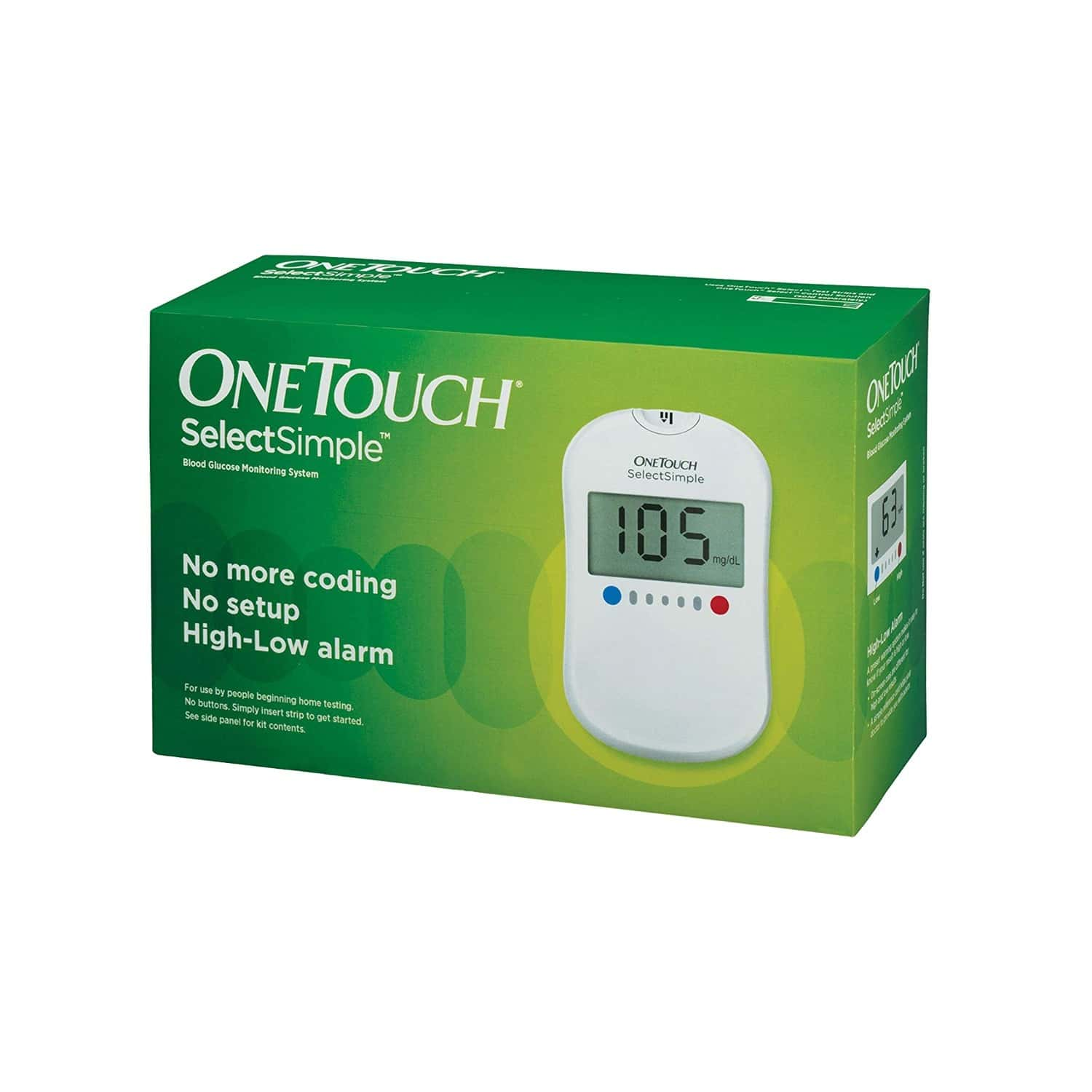 One Touch Select Plus Simple Glucometer Kit (with Free 10 Strips)