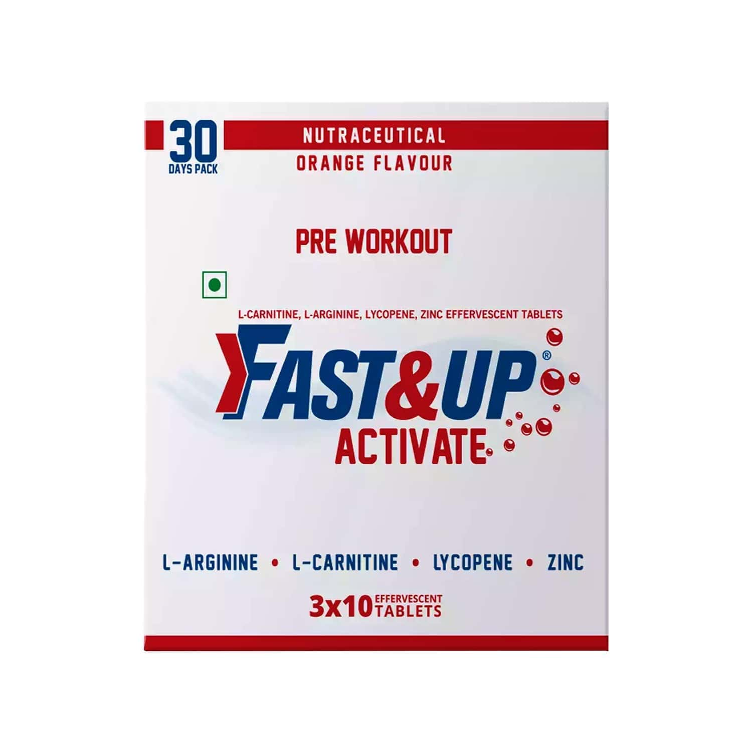 Fast&up Activate Orange Effervescent Tablets Box Of 3