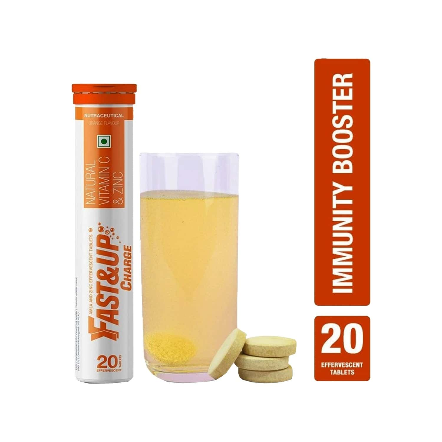 Fast&up Charge Orange Effervescent Tablets Bottle Of 20