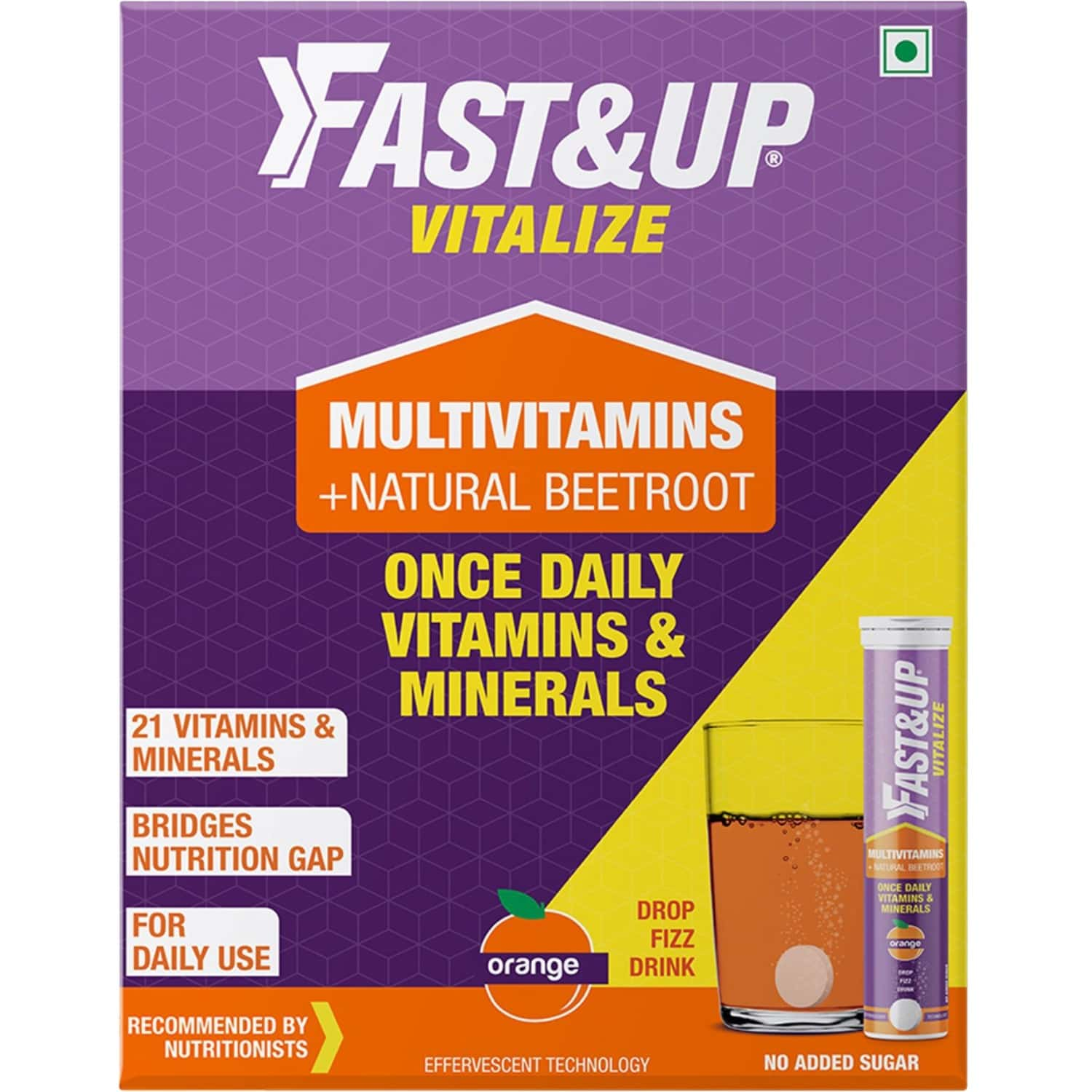 Fast&up Vitalize Multivitamin For Men & Women-21 Vital Vitamins&minerals For Daily Health(pack Of 3)