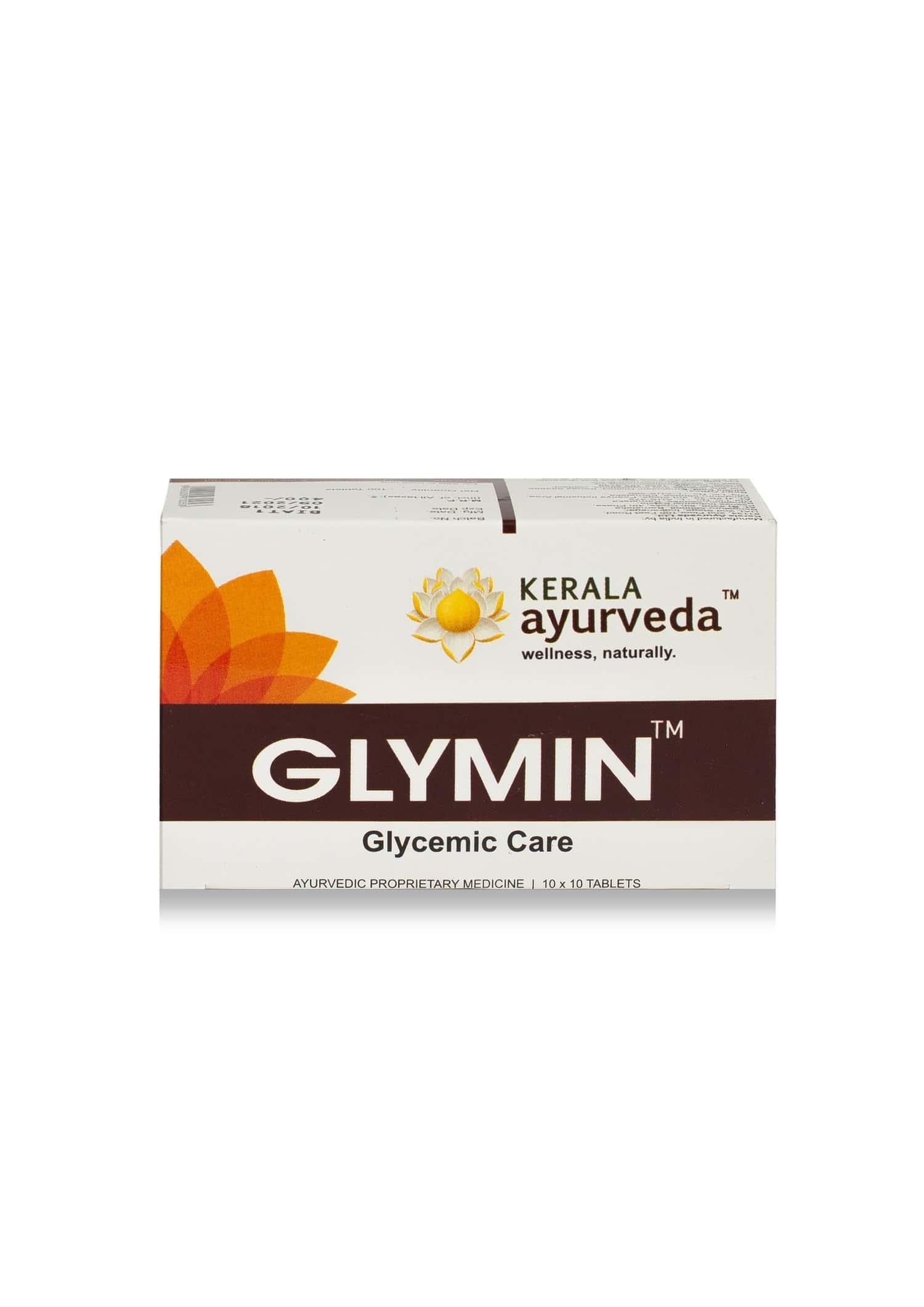 Kerala Ayurveda Glymin Glucose Control Tablets Box Of 100 's
