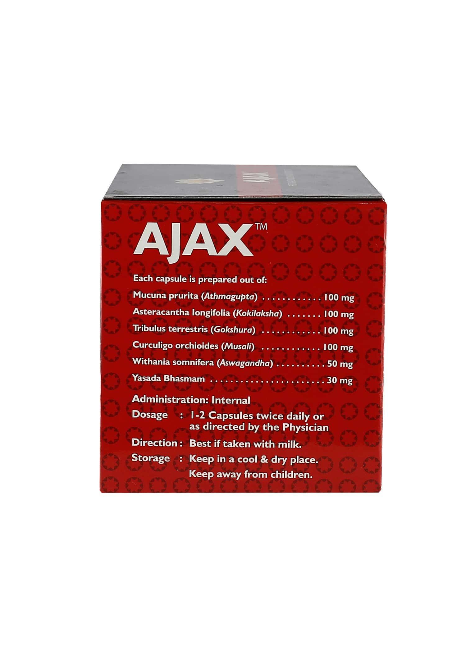 Kerala Ayurveda Ajax Vigor Improvement Capsules Box Of 50 's