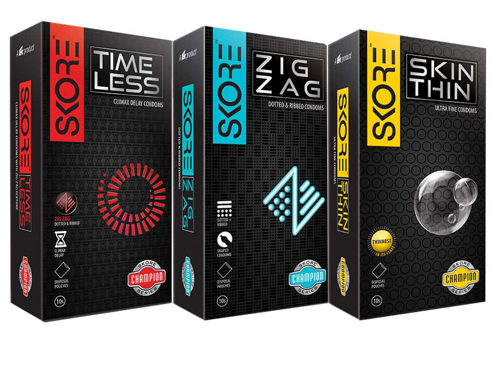 Skore Champions Pack - Premium Dotted Condoms With Disposable Pouches