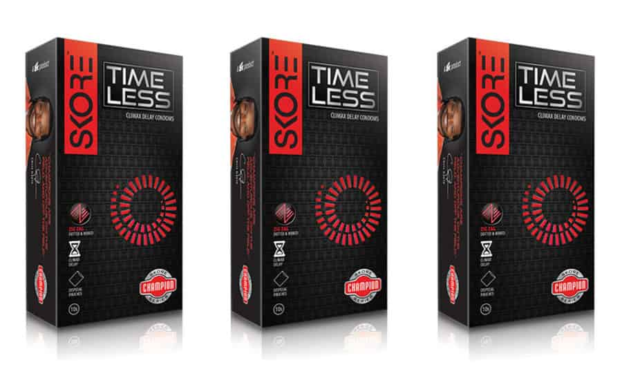 Skore 3d Champion Time Less - Climax Delay Condoms - Value Saver Pack Of 3 X 10s