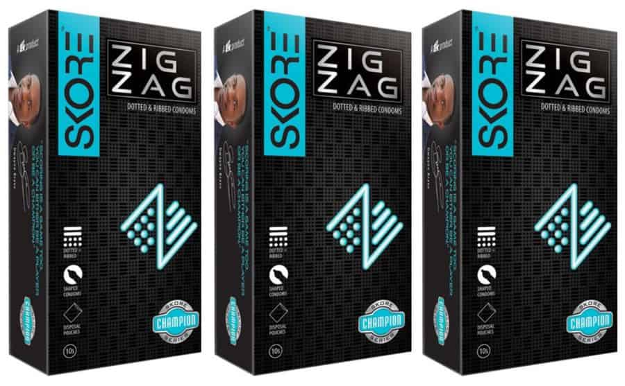 Skore 3d Champion Zig Zag - Dotted & Ribbed Condoms - Value Saver Pack Of 3 X 10s