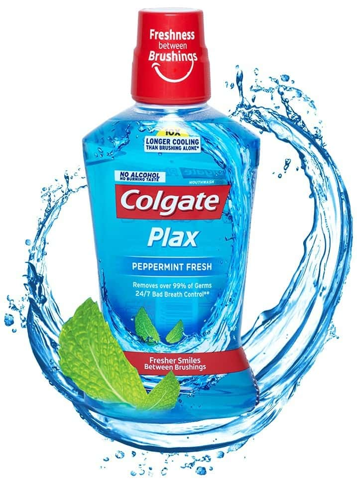 Colgate Plax Peppermint Alcohol-free Mouthwash Bottle Of 500 Ml
