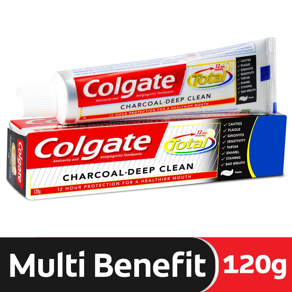 Colgate Total Charcoal Anticavity Toothpaste - 120 Gm