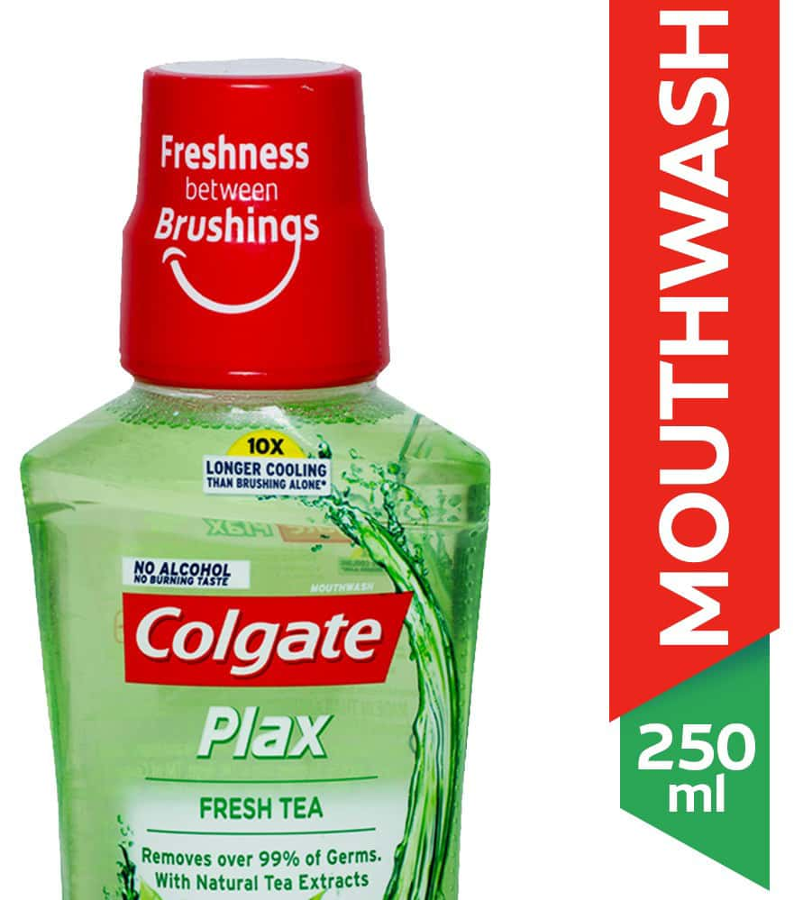 Colgate Plax Fresh Tea Alcohol-free Mouthwash Bottle Of 250 Ml