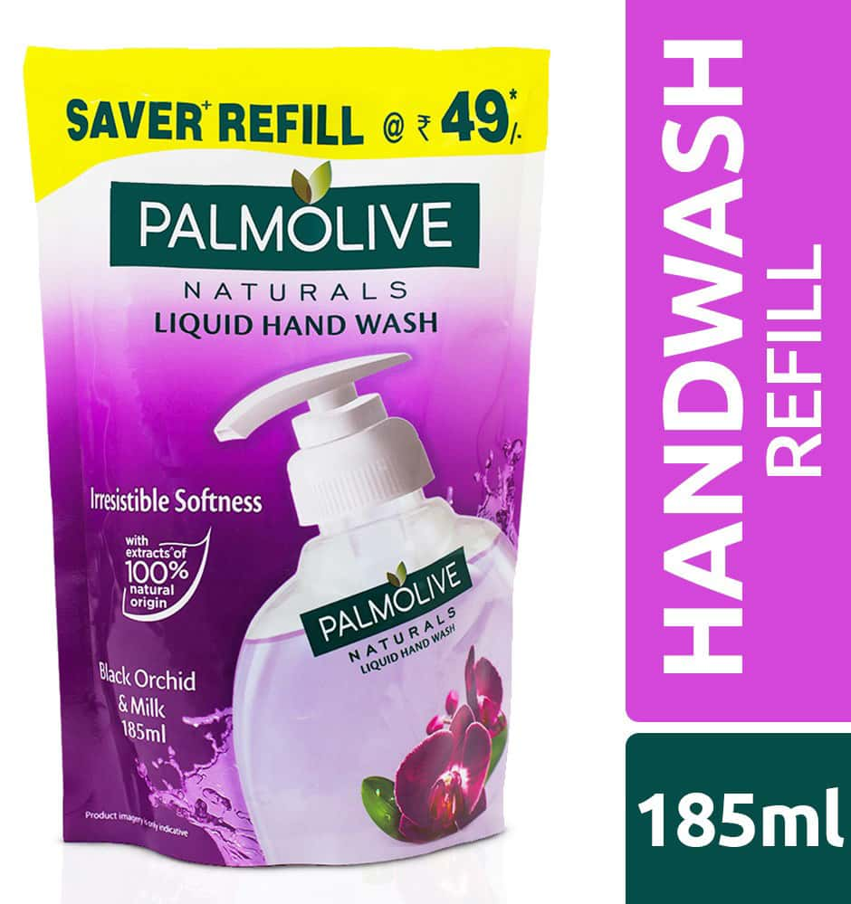 Palmolive Naturals Hand Wash Black Orchid & Milk - 185 Ml (refill Pack)