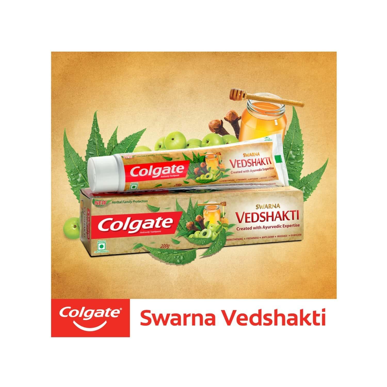 Colgate Swarna Vedshakti Toothpaste - 200 Gm