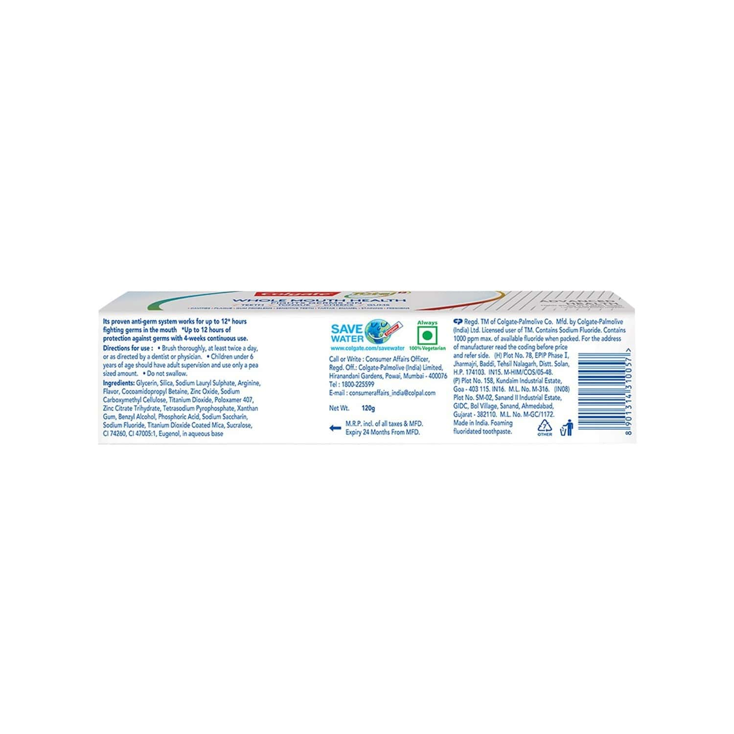 Colgate Total Advanced Health Anticavity Toothpaste - 120g