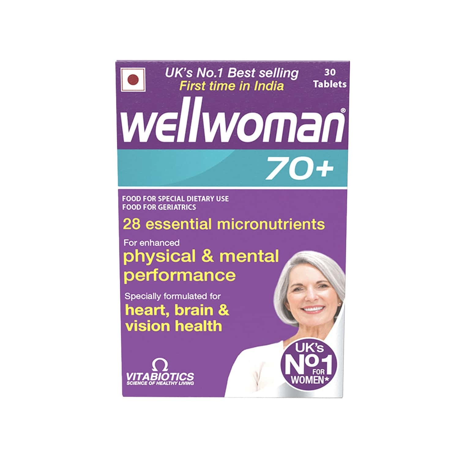 Wellwoman 70+  Health Supplement Tablets  Box Of 30