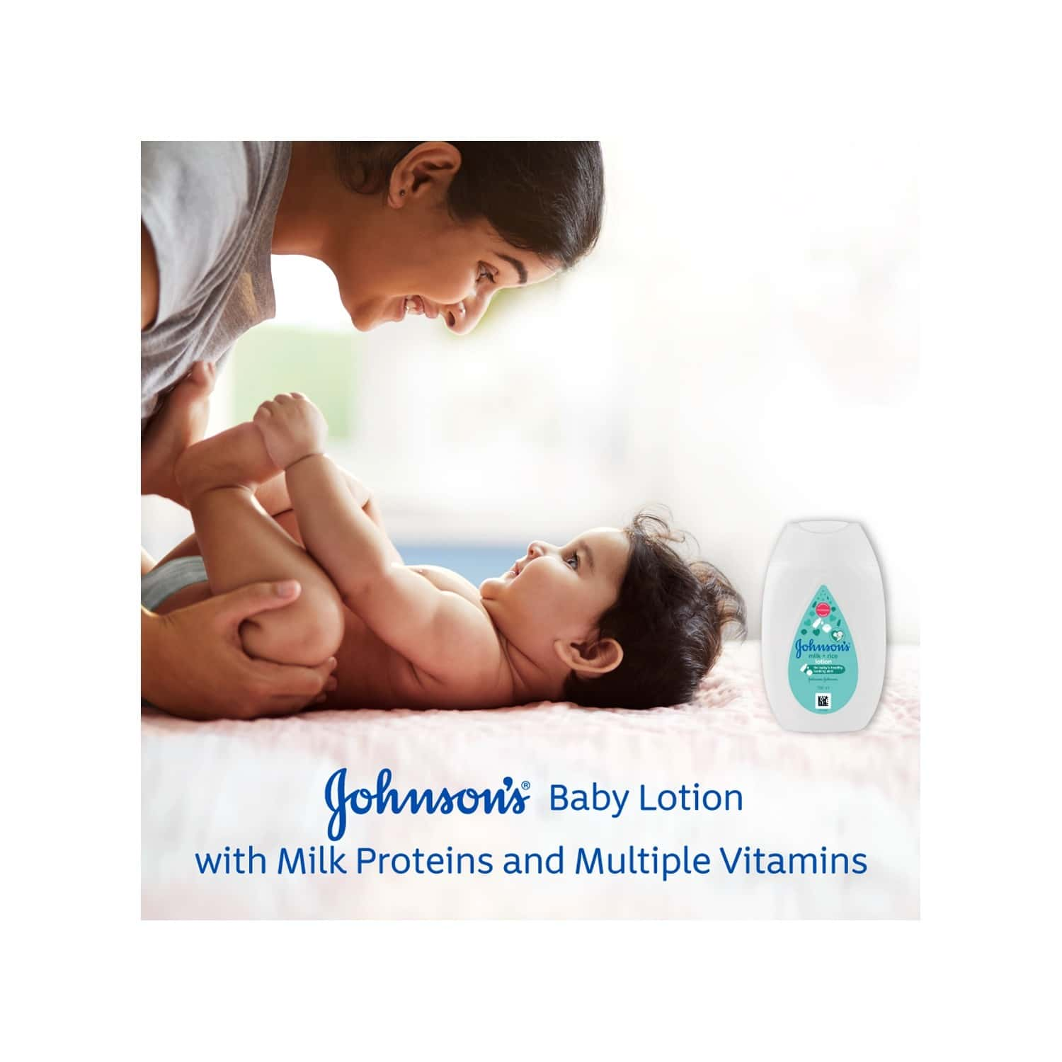 Johnson's  Baby Milk And Rice Lotion  Bottle Of 200 Ml