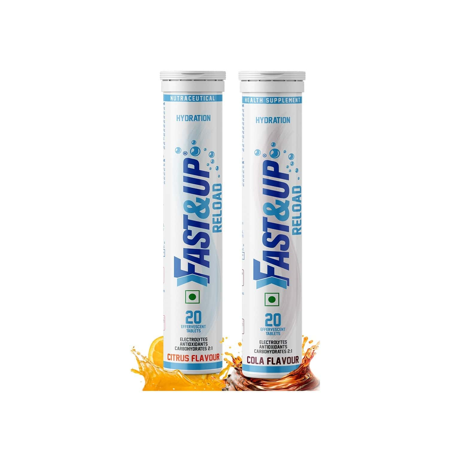 Fast&up Reload Combo - 2x20 Effervescent Tablets - Citrus And Cola Flavour