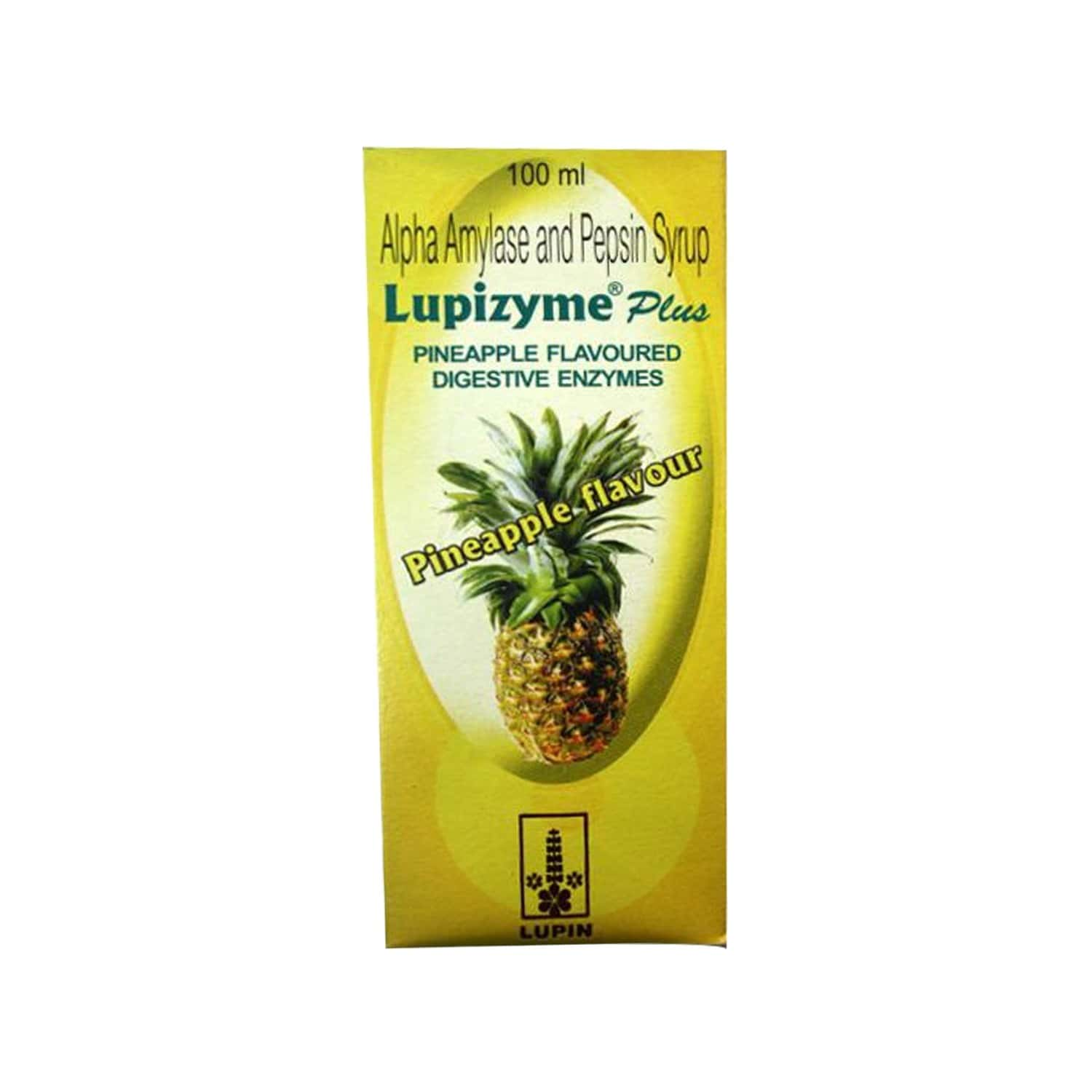 Lupizyme Plus Pineapple Digiestion Syrup Bottle Of 100 Ml