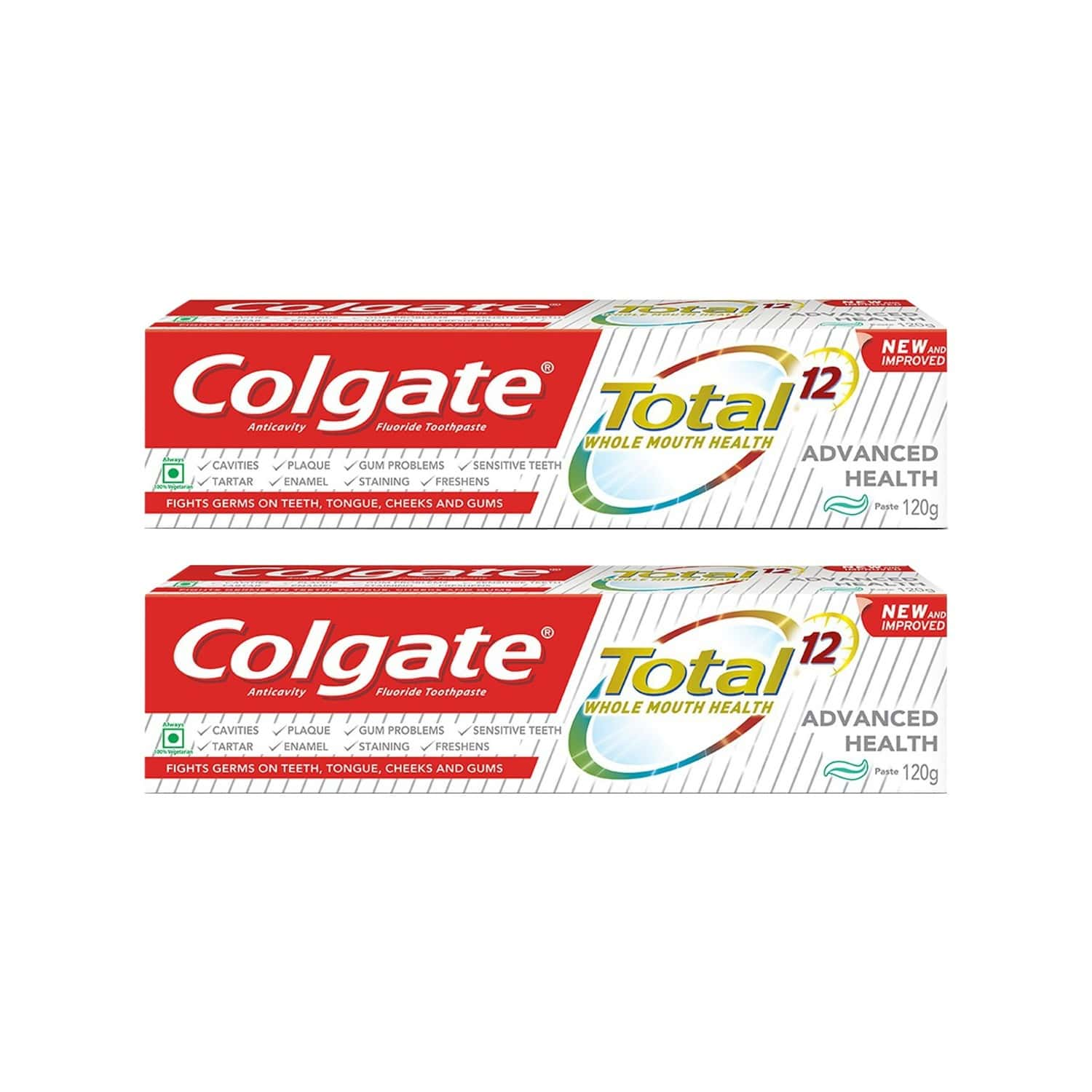 Colgate Total Advanced Health Anticavity Toothpaste - 120g (pack Of 2)