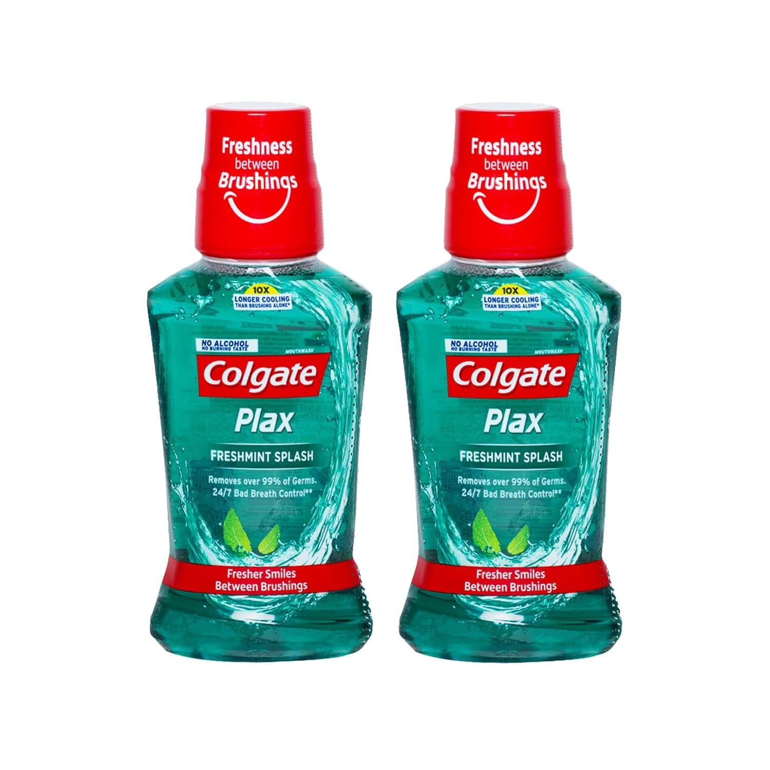 Colgate Plax Freshmint Splash Mouthwash 250ml (pack Of 2)