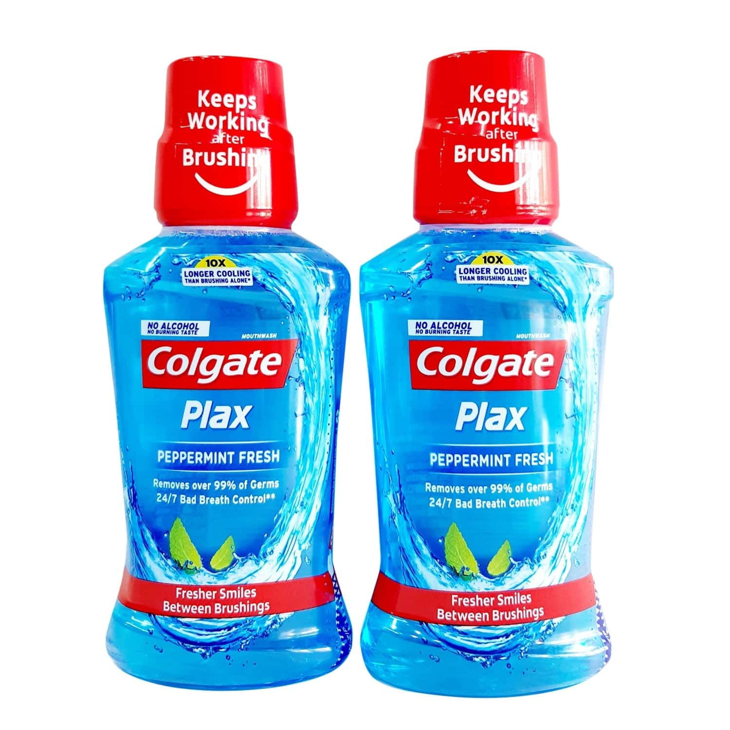 Colgate Plax Peppermint Fresh Mouthwash 250ml (pack Of 2)