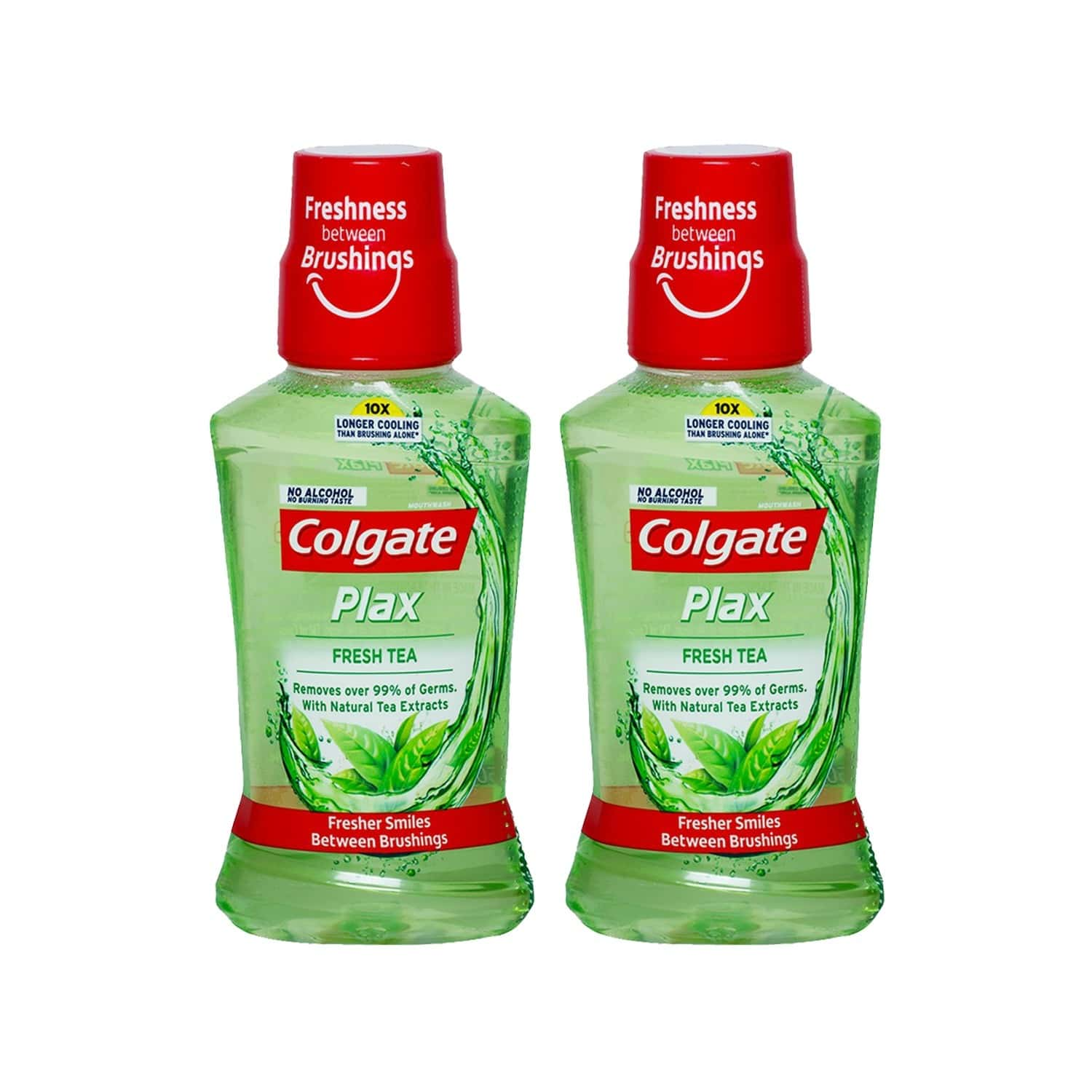 Colgate Plax Fresh Tea Mouthwash (pack Of 2) Bottle Of 250 Ml
