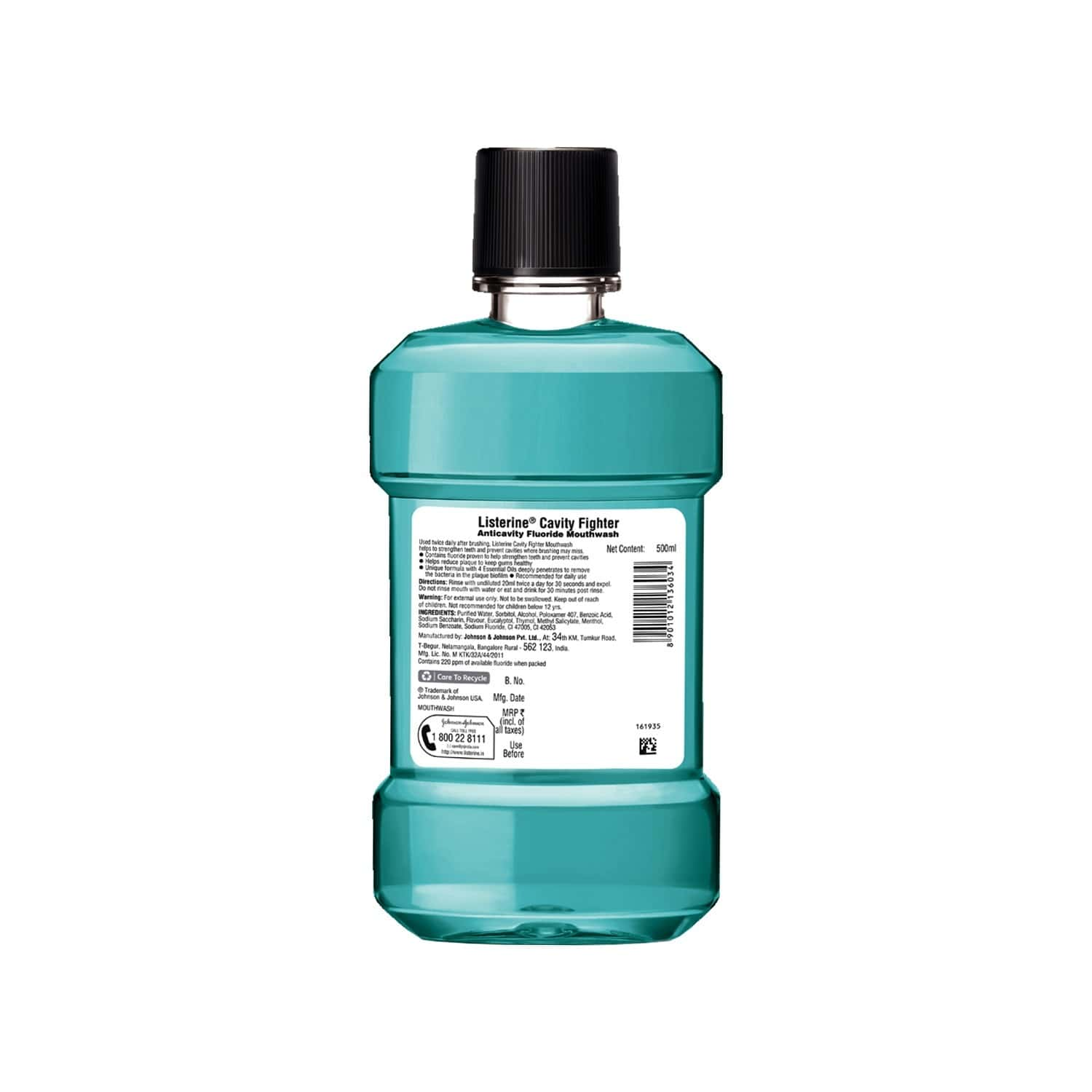 Listerine Cavity Fighter Mouthwash Bottle Of 500 Ml