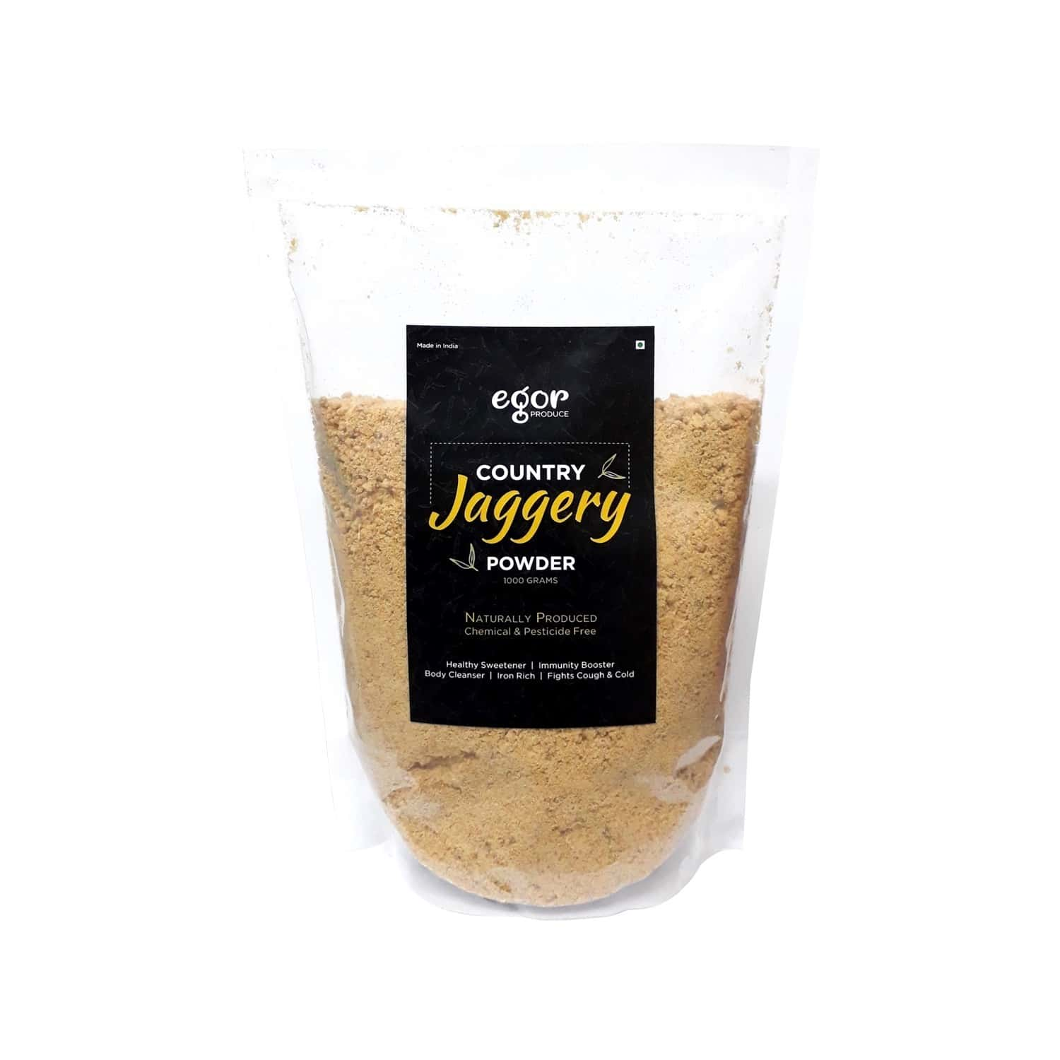 Egor For Babies & Family : Country Jaggery Powder, Organically Produced, Chemical Free, Healthy Sugar Substitute - 1kg