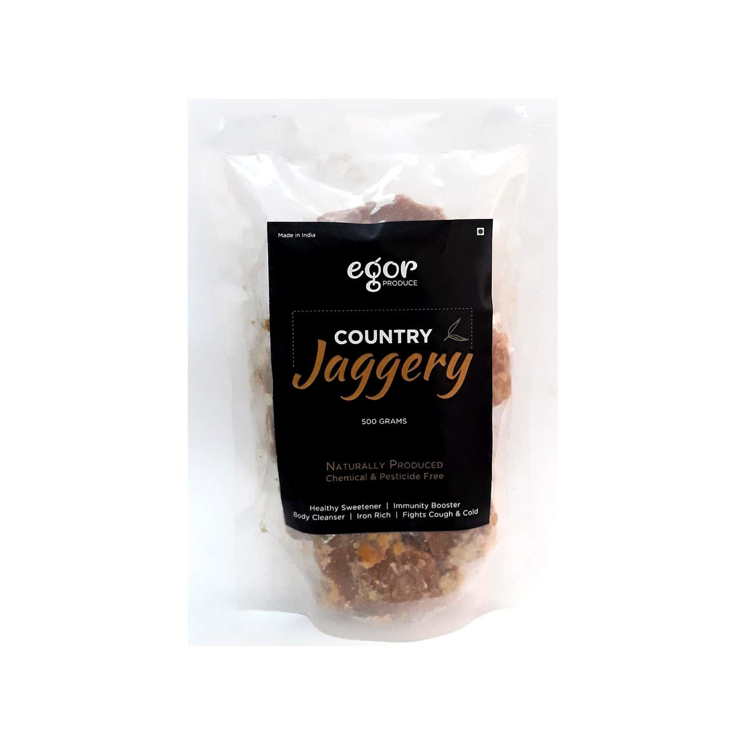 Egor Country Jaggery, Organically Produced, Chemical Free, Healthy Sugar Substitute - 500gm