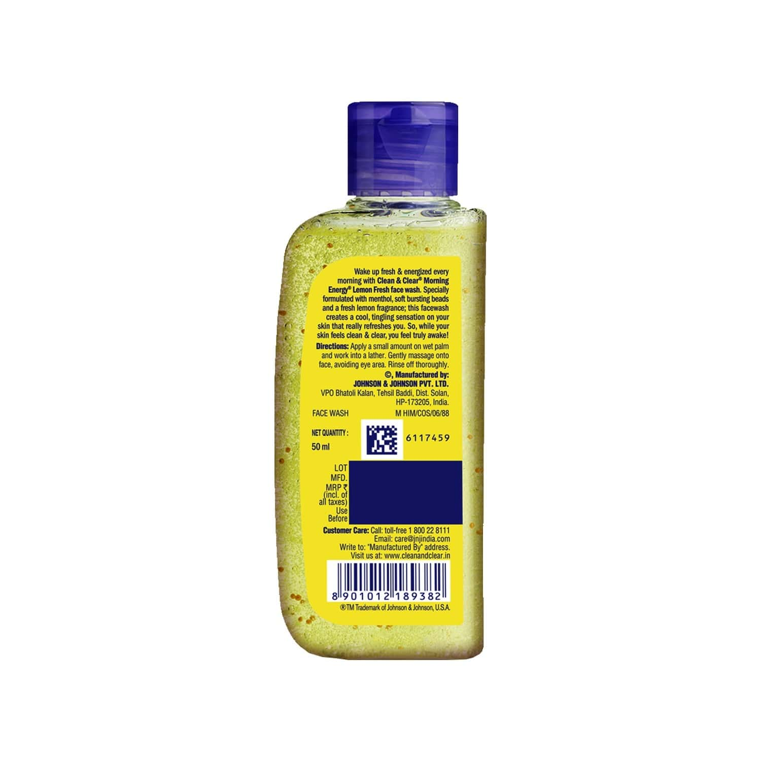 Clean And Clear Morning Energy Face Wash Energing Lemon 50ml