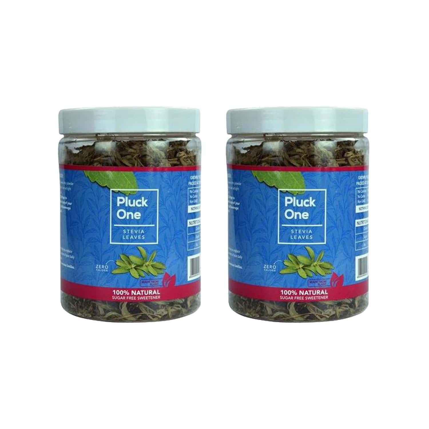 Pluck One Combo 4 - Premium Dried Stevia Leaves Pack Of 2