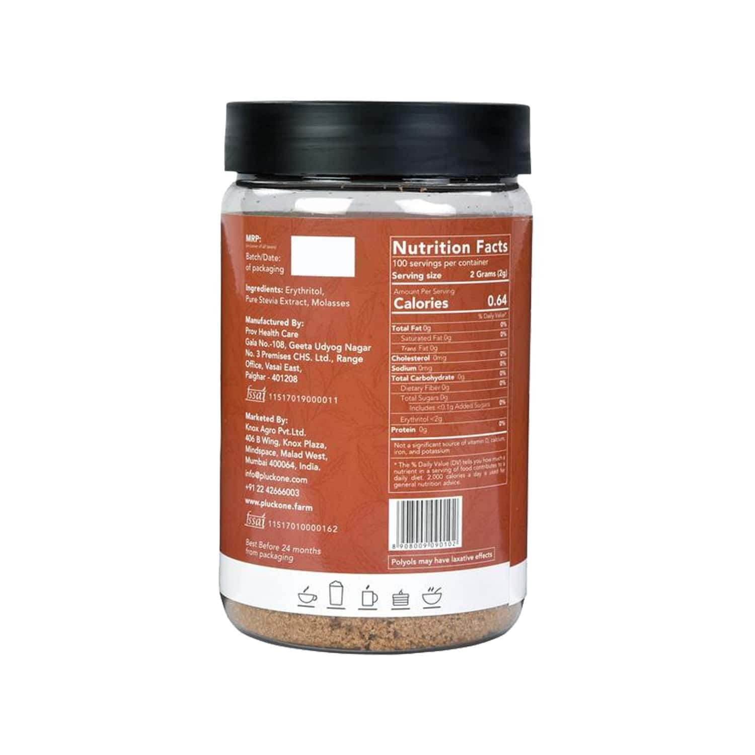 Pluck One Combo 7 - Stevia Brown + Stevia Brown - 200gms