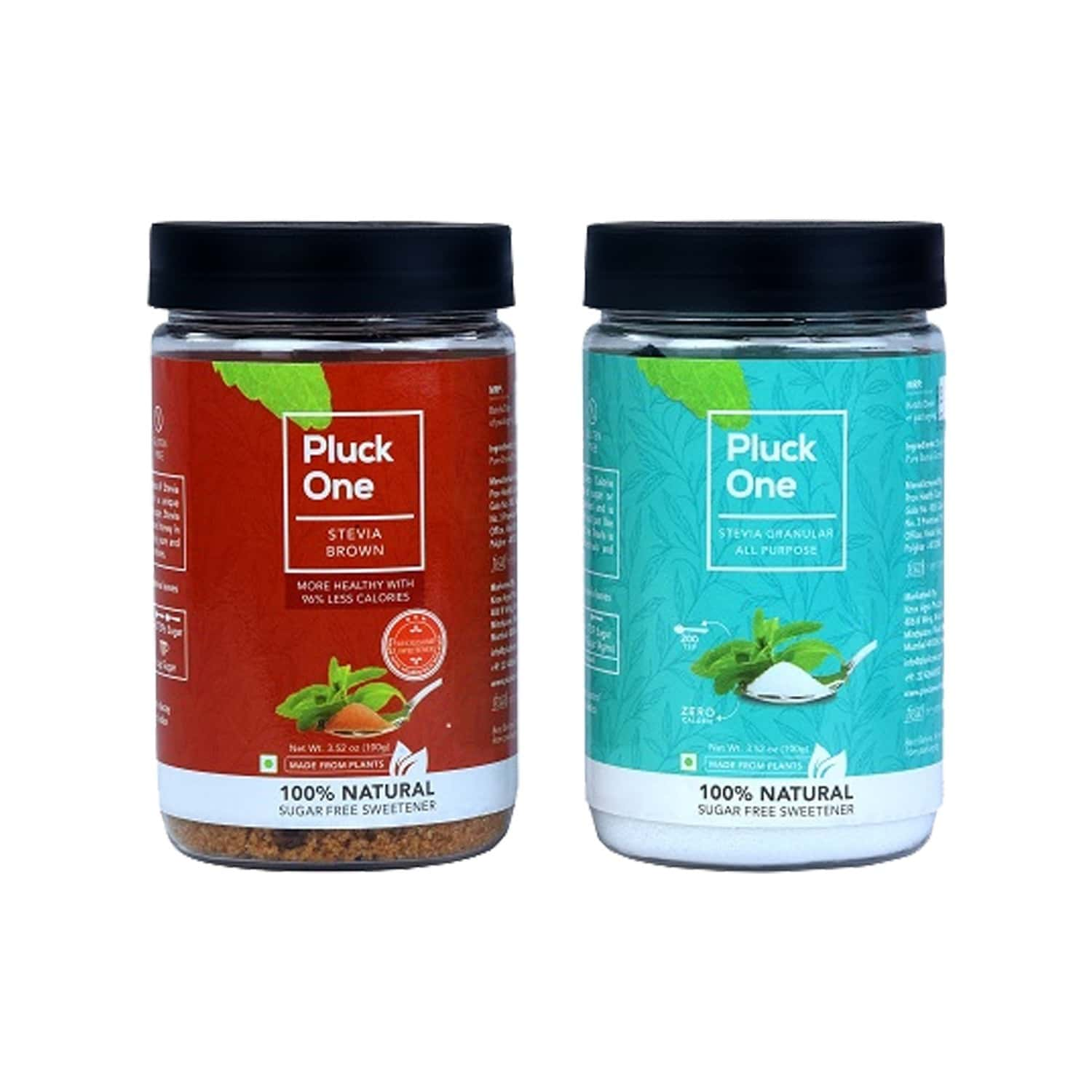 Pluck One Combo 16 - All Purpose Stevia + Stevia Brown - 200gms