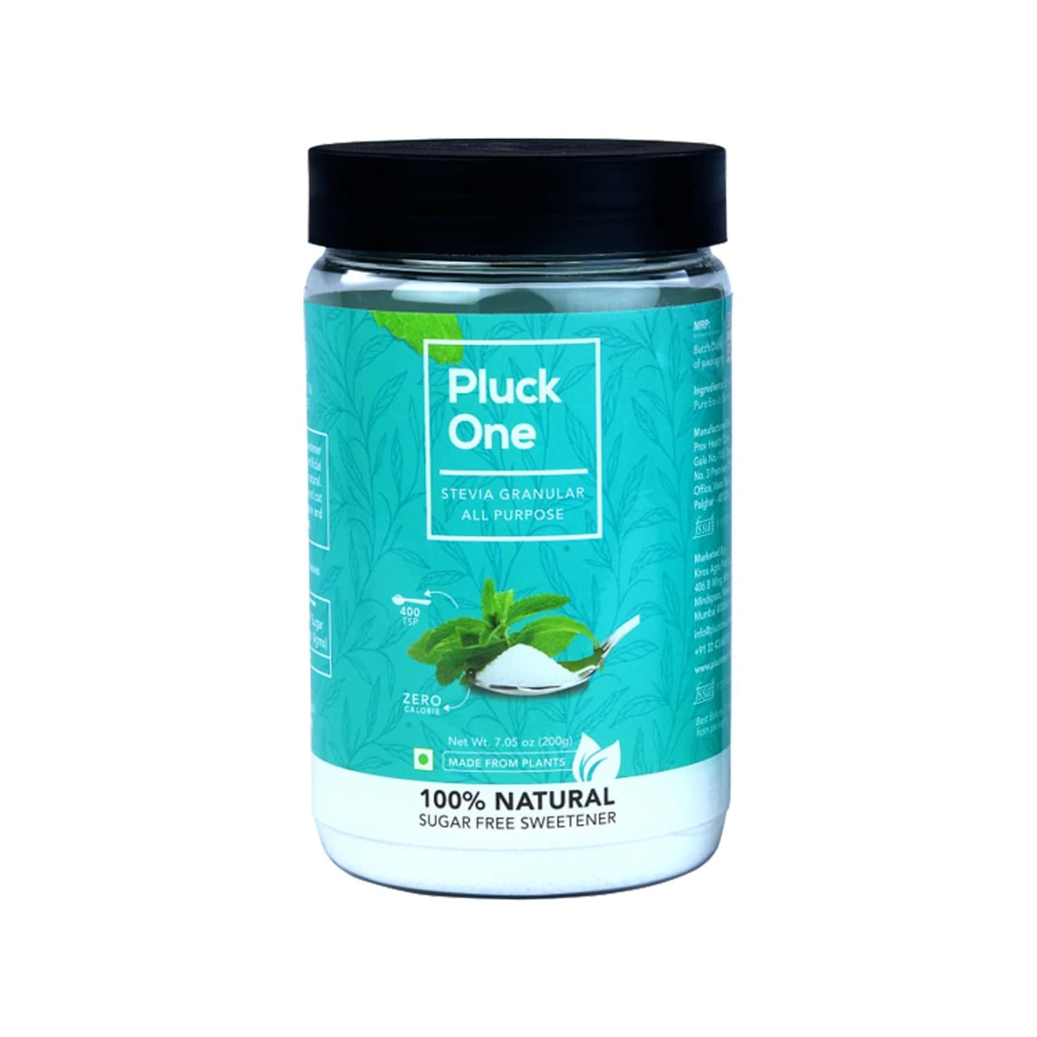 Pluck One Combo 15 - All Purpose Stevia - 200gms + Stevia Brown - 200gms + Premium Dried Stevia Leaves - 50gms