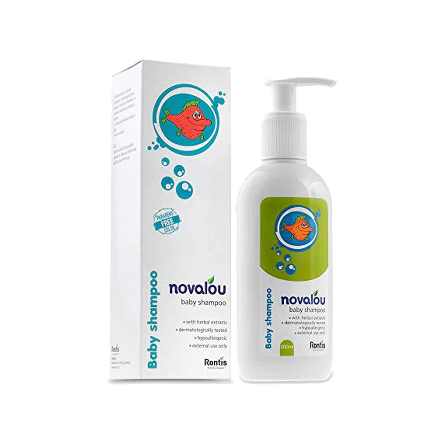 Novalou No Tears Gentle Shampoo For Infants With Calendula And Chamomile Extracts 200 Ml
