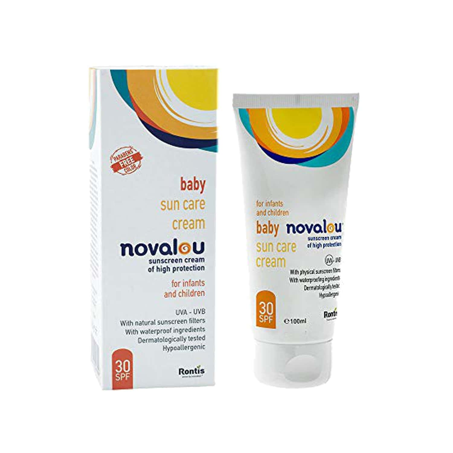 Novalou Infants Mineral Based Sun Creen Spf 30 Body Lotion With Vitamin E 100 Ml