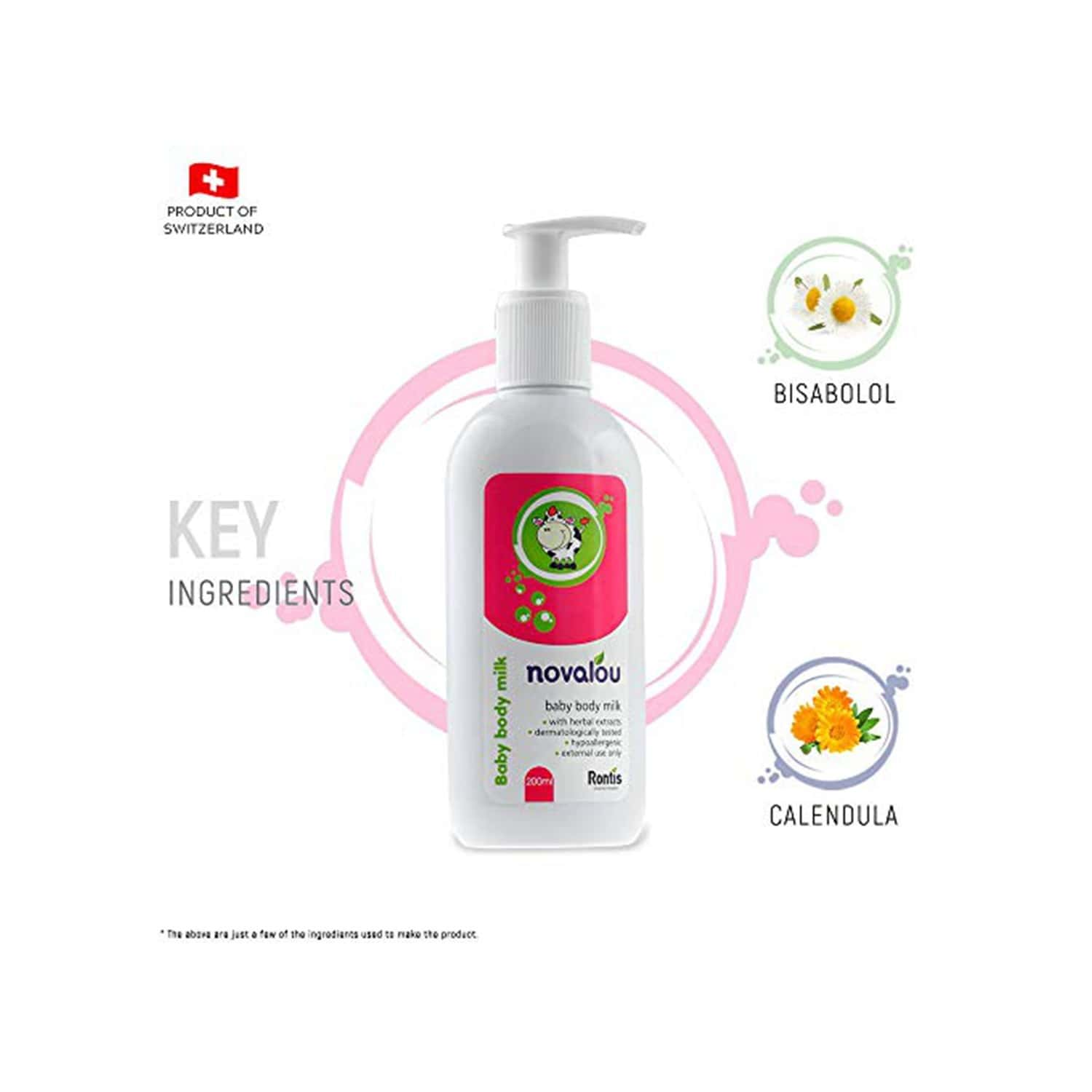 Novalou Body Wash & Body Milk Lotion Combo With Eu Certified Natural Ingredients For Infnats & Child
