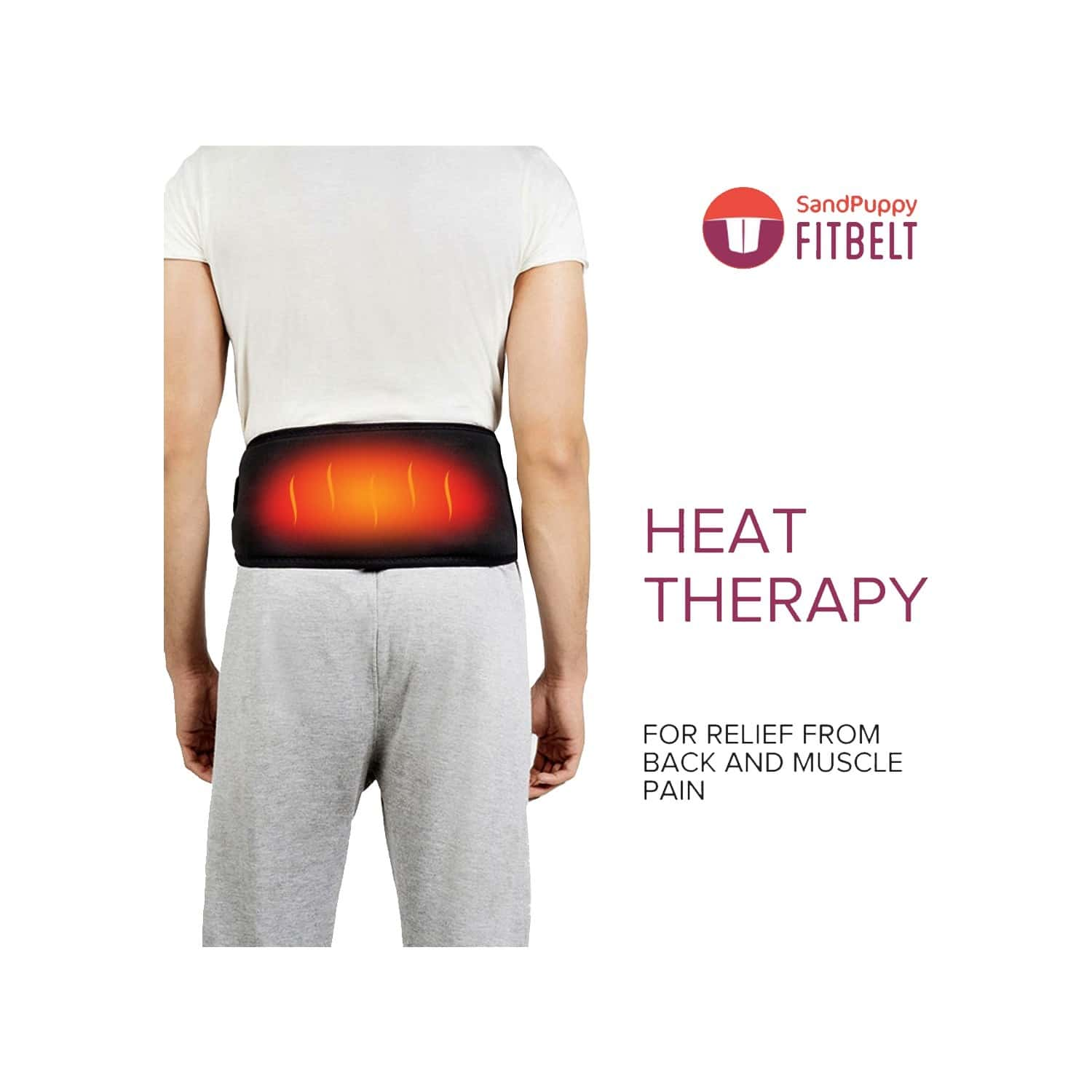 Sandpuppy Fitbelt - Portable And Wireless Heating Pad For Back Pain Relief