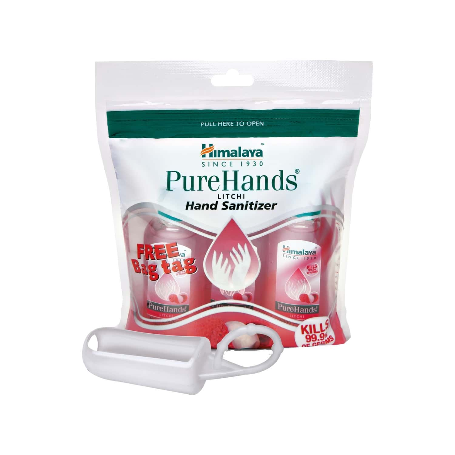 Himalaya Wellness Purehands (3x30 Ml - Litchi) - Hand Sanitizer
