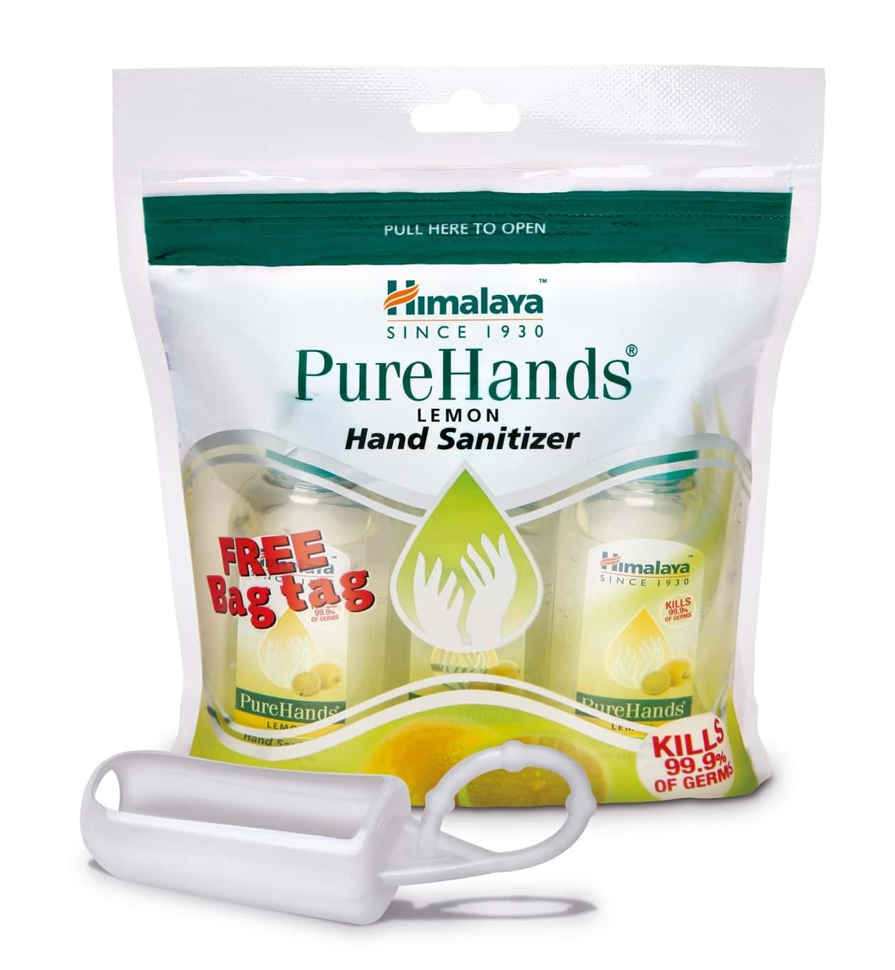 Himalaya Wellness Purehands (3x30 Ml - Lemon) - Hand Sanitizer