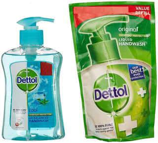 Dettol Cool Liquid - 200 Ml + Refill Handwash Bottle Of 200 Ml