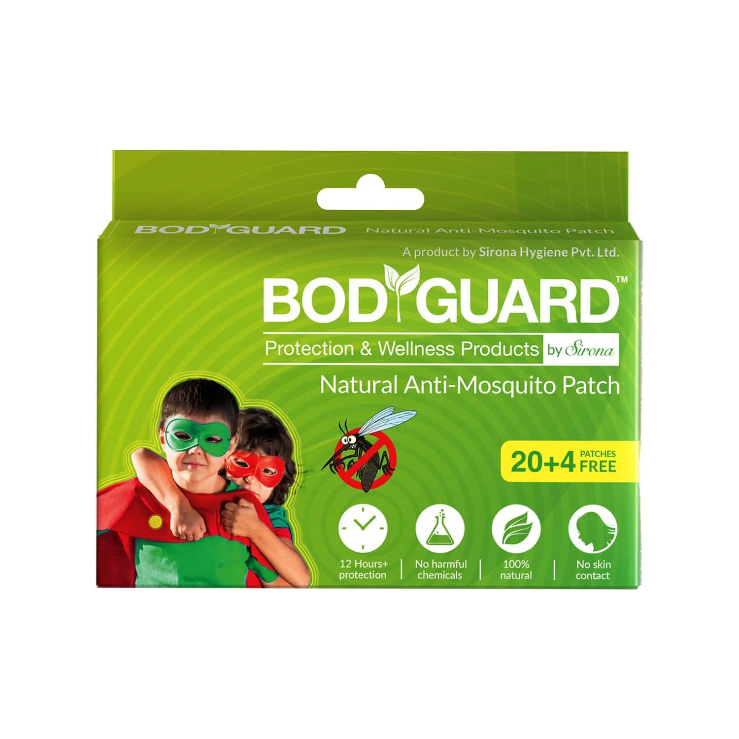 Bodyguard Premium Natural Anti Mosquito Patch Packet Of 20 + 4 Patches