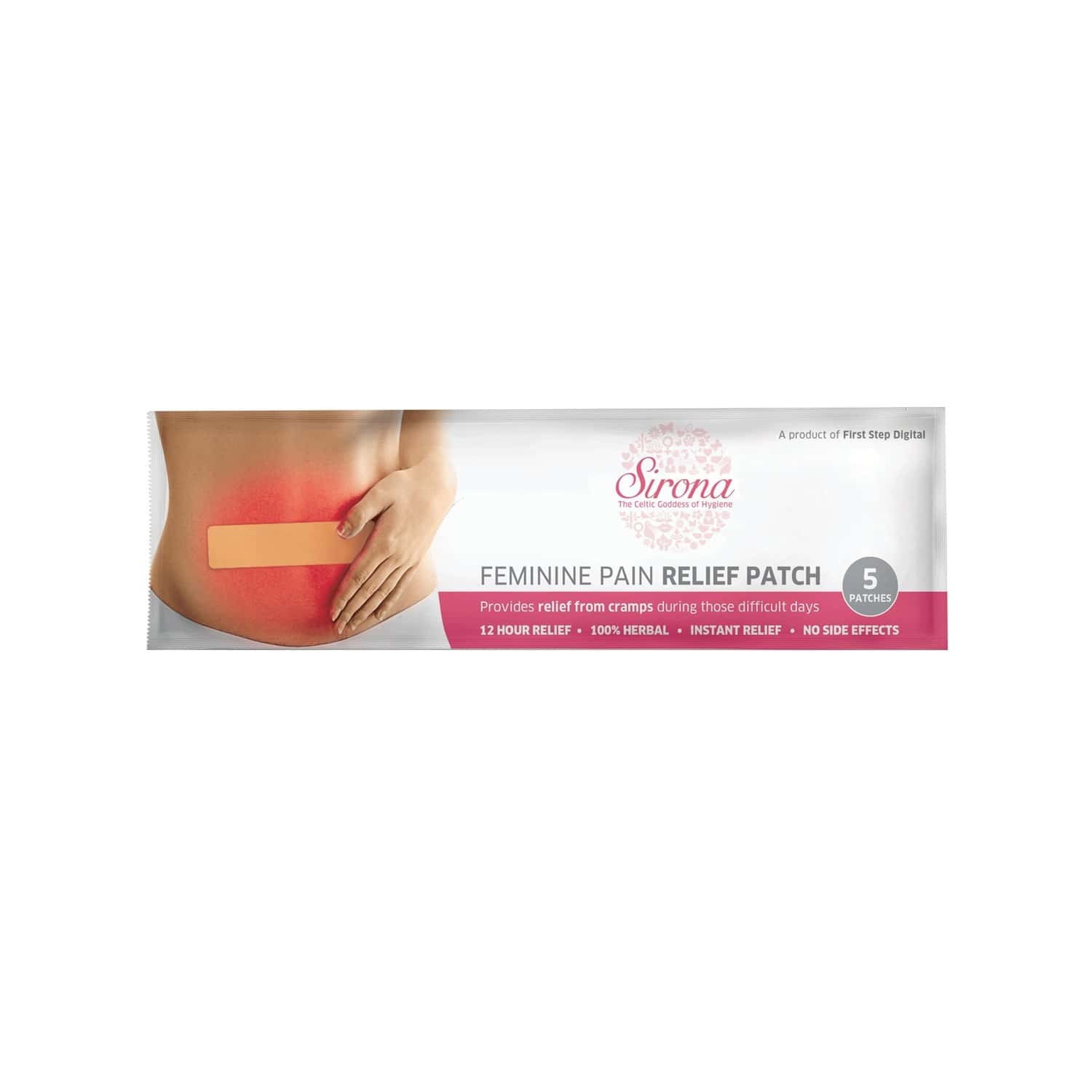 Sirona Feminine Cramp Relief Patch Packet Of 5 's