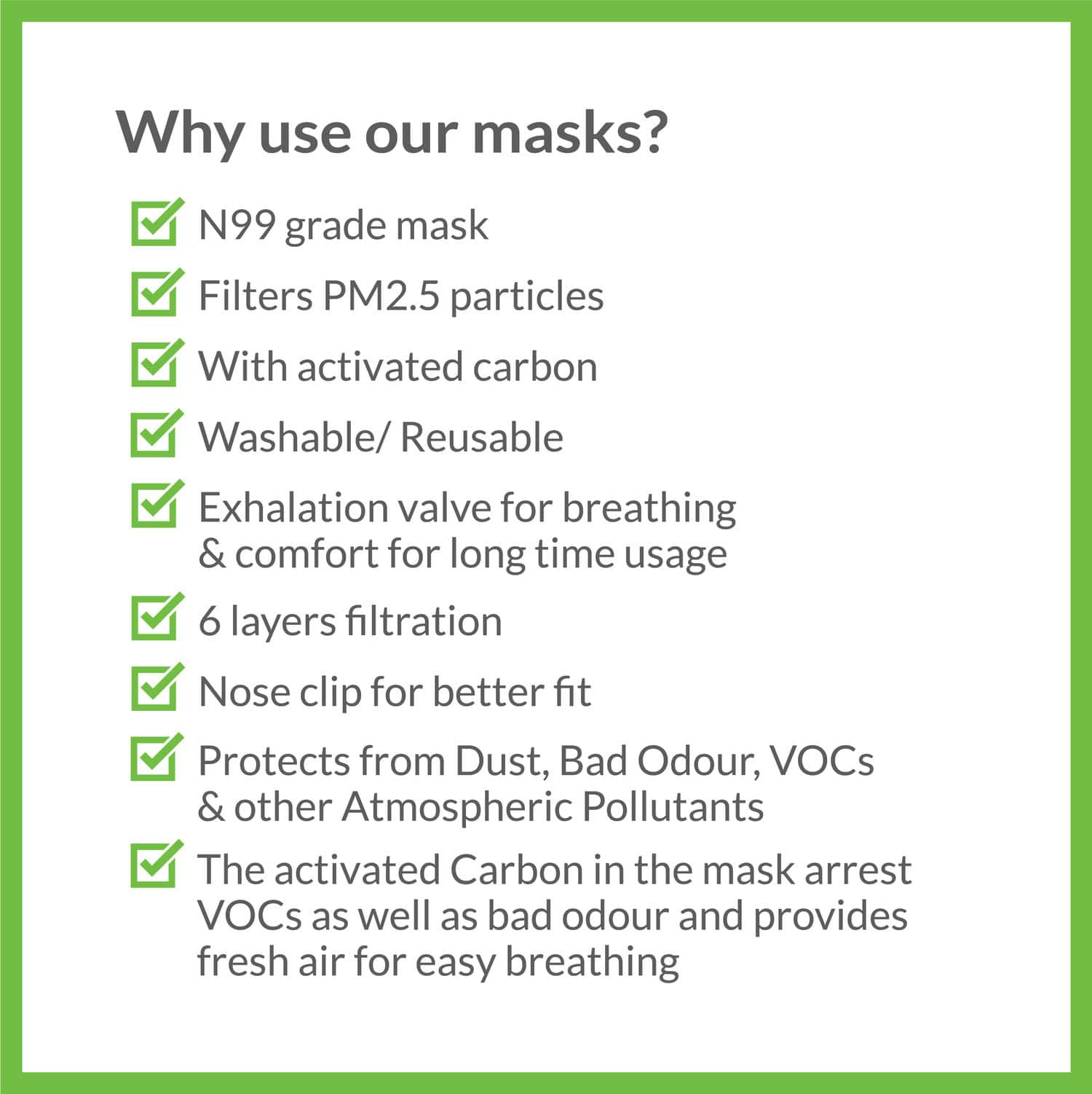 Bodyguard - Reusable Anti Pollution Face Mask With Activated Carbon, N99 + Pm2.5 For Kids