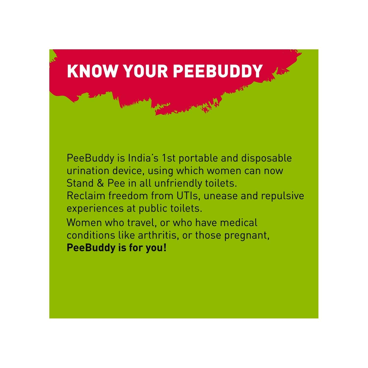 Peebuddy Stand & Pee Device For Women, Helps During Arthritis, Pregnancy & Road Trips, No More Squats - Pack Of 10