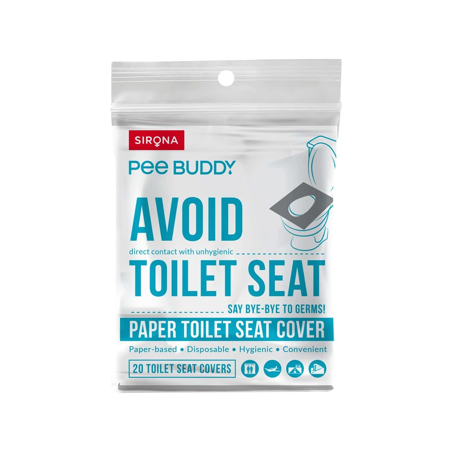 Peebuddy - Flushable Toilet Seat Cover Packet Of 20 's